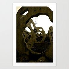 Screaming Lantern Art Print