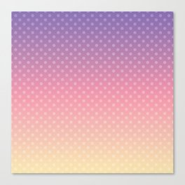 Lilac pink yellow Ombre . Canvas Print