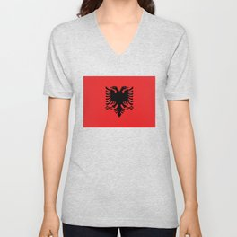 National flag of Albania - Authentic version Unisex V-Neck