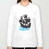 pirate ship Long Sleeve T-shirts featuring Pirate Ship by Anthony Rocco