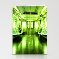 subway Stationery Cards featuring Subway by Jacquie Fonseca