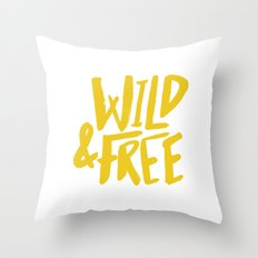 Wild and Free - Sunshine Throw Pillow