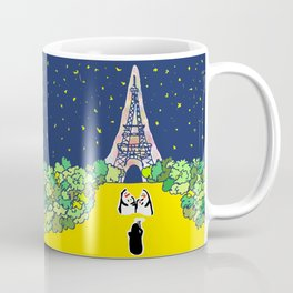 Eiffle Tower and Penguin Familiy Coffee Mug