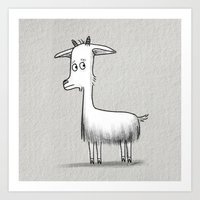 totes Art Prints featuring Totes MaGoats by Cassandra Berger
