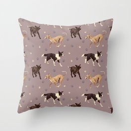 Rescue Dogs Pattern Throw Pillow