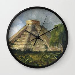 Mayan Pyramid Wall Clock