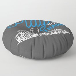 Still Plays With Trains Funny Trainspotting Floor Pillow