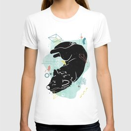 Dreaming wolf illustration T-shirt