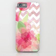 Chevron Flowers iPhone 6s Slim Case