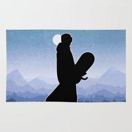 Snowboard Skyline Stand Rug
