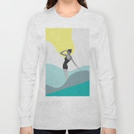Swimmer Collage Long Sleeve T-shirt