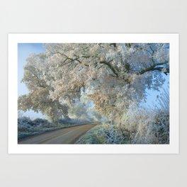 Cotswolds Frost Art Print