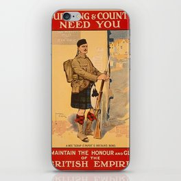 Your King and Country Need You, British Empire iPhone Skin