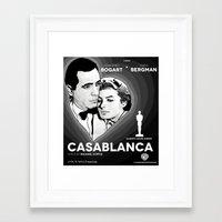 casablanca Framed Art Prints featuring Casablanca by Matheus Greche