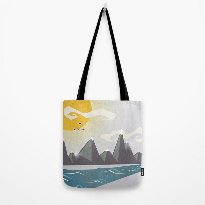 Grey mountains of joy Tote Bag