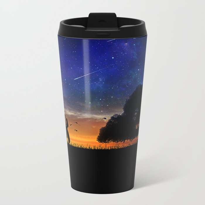 Alone in the Universe Metal Travel Mug
