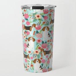 Beagle Floral dog design cute florals beagle phone case beagle pillows Travel Mug