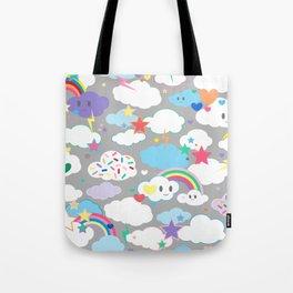 Clouds and Rainbows Kawaii Tote Bag