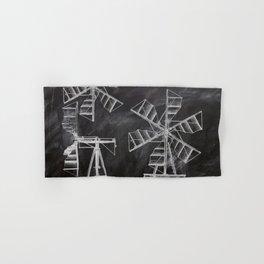 steampunk western country chalkboard art agriculture farm windmill patent print Hand & Bath Towel