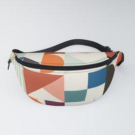 mid century retro shapes geometric Fanny Pack