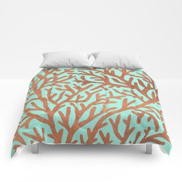 Copper Coral Comforters
