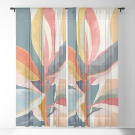 Colorful Branching Out 01 Sheer Curtain