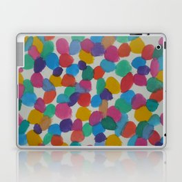 Rainbow Dots Abstract Watercolor Art Laptop & iPad Skin