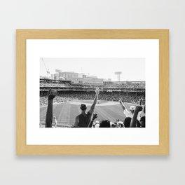 Red Sox Win Framed Art Print