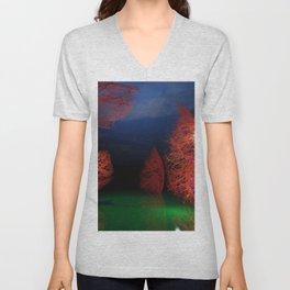 Forest landscape 3d digital art, 3d modeling, Unisex V-Neck
