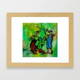 Jazzy Clowns Framed Art Print