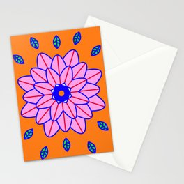 Flower Power Orange Vibes Stationery Cards