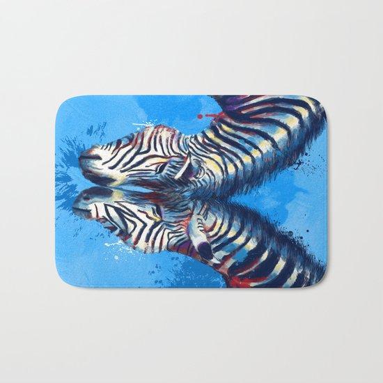 Friendship - Zebra portraits Bath Mat