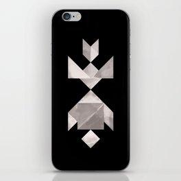Tangram Fish in love - black and white iPhone Skin
