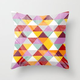 Triagles warm Throw Pillow