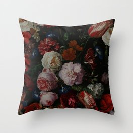 Vintage & Shabby Chic - Dutch Midnight Garden Throw Pillow