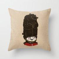bears Throw Pillows featuring Bears by Ronan Lynam