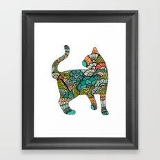 Vegetarian cat Framed Art Print