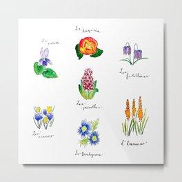 Catalogue de Fleurs Metal Print