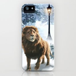 Aslan and the Lamppost iPhone Case