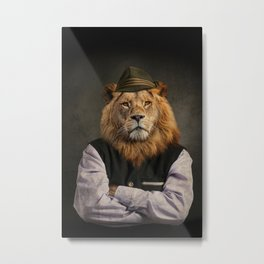 Heraldic Animal - Bavarian Lion Metal Print