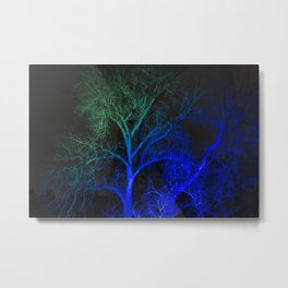 COLORED TREES Metal Print
