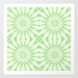 Pastel Green Pinwheel Flowers Art Print