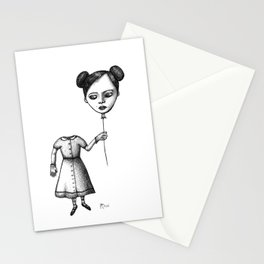 WHERE IS MY MIND? (Balloon Head Girl) Stationery Cards