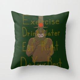 Motivational Sobek-Ra Throw Pillow