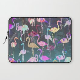 After Dark Flamingo Party  Laptop Sleeve