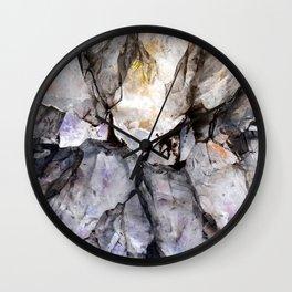 Crystal texture Wall Clock