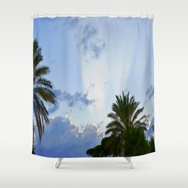 Palms on Clouds  Shower Curtain