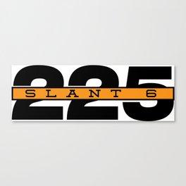 225 Slant Six Badge Canvas Print