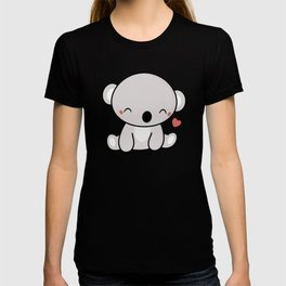 Kawaii Cute Koala With Heart T-shirt