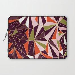 New Art Deco Geometric Pattern - Burgundi and Pink #deco #buyart Laptop Sleeve